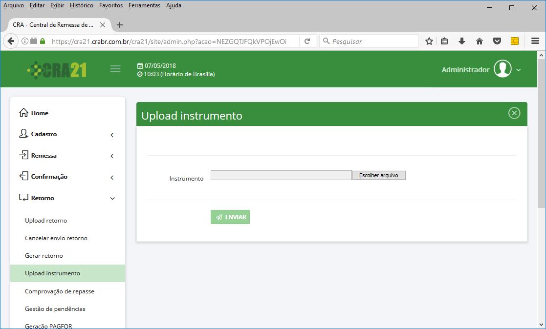 Upload Instrumento eletrônico.